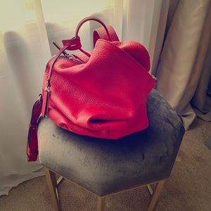 Vince Camuto red backpack